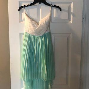 High low lace dress